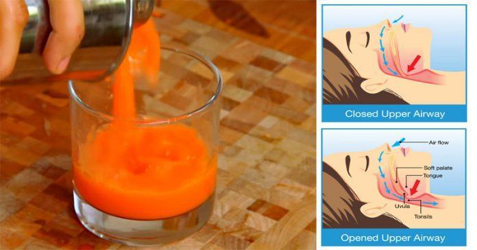 Вкусный сок, который избавляет от храпа и уменьшает апноэ во сне!