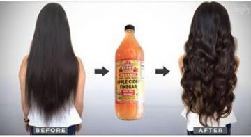 Она моет волосы с яблочным уксусом, результат поражает!